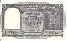 INDE 10 RUPEES ND1967 AUNC P 40 - Inde