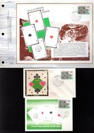 """"""" BRIDGE  """" Sur LOT (Feuillet CEF + Carte Maximum + Enveloppe 1er Jour) De 1976. N° YT 1052 Parfait état - Games"""