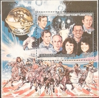 Central African Republic 1986 US Space Shuttle Challenger Explosion S/S - Central African Republic