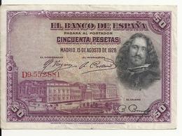 ESPAGNE 50 PESETAS 1928 VF P 75 - [ 1] …-1931 : Premiers Billets (Banco De España)