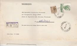 Somma Vesuviana. 1977 Annullo Corno Di Posta, Su Raccomandata Affrancata Con S.GIORGIO 500 + Siracusana 20 - 6. 1946-.. Republik