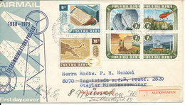 Papua New Guinea Registered FDC 24-1-1973 Set Of 6 Telecommunication With Cachet Sent To Germany - Papua Nuova Guinea