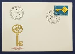 1968 Covers, Basel Helvetia, CEPT, Europa Tag, Suisse, Switzerland - Schweiz