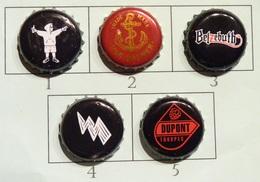 Lot N° 14-3 : 5 Capsules De Bière (parfait état - Pas De Trace De Décapsuleur) - Bière