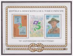 0206 Sao Tome 1982 Scouting Baden Powell Bike S/S MNH - Padvinderij