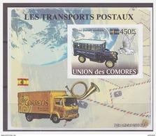 0207 Comores 2008 Postvervoer Postcar S/S MNH Imperf - Poste