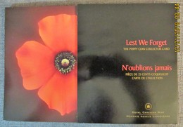"""Lest We Forget The Poppy Coin Collector Card """"Special Issue"""" - Canada"""