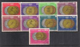 PANAMA 1968 MEDAGLIE AI VINCITORI DEI GIOCHI OLIMPICI D'INVRNO A GRENOBLE YVERT. 475-481+P.A.448-449 USATA VF - Panama
