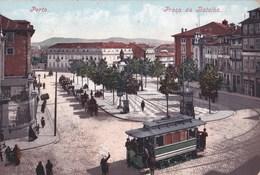 Bilhete Postal     :Porto (Portugal)     Praca  Da Batalha       Tram     Ed Purger - Porto