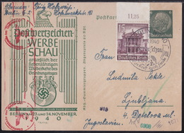 Berlin, Werbeschau 1940, Postcard, Uprated, Sent To Ljubljana - Germany