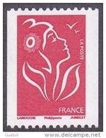 France N° 3743,A ** Marianne De Lamouche - Roulette - Légende Philaposte - TVP Rouge - France