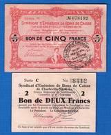 Charleville  Mézieres   2  Billets - Bons & Nécessité