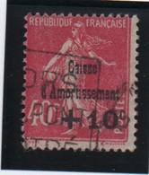 CAISSE  D'AMORTISSEMENT   -  1930   40 C. + 10 C.  Rose. - Sinking Fund