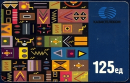 KAZAKHSTAN KAZAKTELECOM 125 UNITS CHIP PHONECARD TELEPHONE CARD TELECARTE NATIVE ART - Kazakhstan