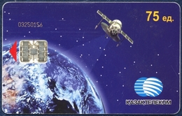 KAZAKHSTAN KAZAKTELECOM 75 UNITS CHIP PHONECARD TELEPHONE CARD TELECARTE SPACE SATELLITE - Kazakhstan