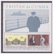 0269 Tristan Da Cunha 1974 Centenary Of Birth Of Winston Churchill S/S MNH - Sir Winston Churchill