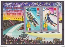 0298 Guinea 1972 Sappor Winter Olympics Skiing S/S MNH - Winter 1972: Sapporo