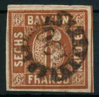 BAYERN QUADRATE Nr 4II GMR 190 Zentrisch Gestempelt X87E38A - Bavière