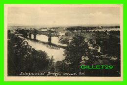 OTTAWA, ONTARIO - INTERPROVINCIAL BRIDGE - PRINTED BY THE HELIOTYPE CO LTD - - Ottawa