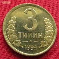 Uzbekistan 3 Tiyin 1994 KM# 2.2  Usbequistão Uzbequistao - Ouzbékistan