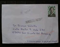 ESPAÑA 2018. CARTA CIRCULADA Y DEVUELTA - 1931-Hoy: 2ª República - ... Juan Carlos I