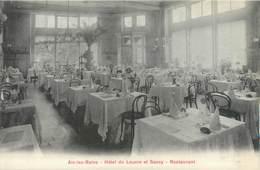 """CPA FRANCE 73 """"Aix Les Bains, Hôtel Du Louvre Et Savoy, Restaurant"""" - Aix Les Bains"""