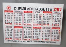 CALENDARIO 2017 CROCE ROSSA ITALIANA MONASTERO BORMIDA ASTI - Formato Piccolo : 2001-...