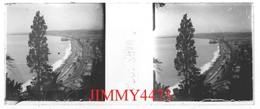 Plaque Photo Stéréo De Verre - BAIE DE BORD DE MER En MARS 1904 - VILLE A IDENTIFIER - Scans Positif-Négatif - Plaques De Verre
