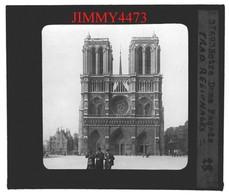 Plaque Photo De Verre - Façade De Notre Dame De Paris, Bien Animée - Notre Dame De Paris