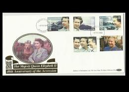 South Georgia Isl. 1992 FDC, 40th Anniversary Of Accession Of H.M QE II, RARE - Géorgie Du Sud