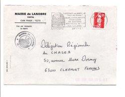 LETTRE DE MAIRIE DE LANOBRE CANTAL - 1961-....
