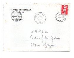 LETTRE DE MAIRIE DE VENDAT ALLIER - 1961-....