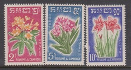 Cambodia SG 115-117 1961 Flowers ,mint Never Hinged - Cambodia