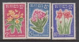 Cambodia SG 115-117 1961 Flowers ,mint Never Hinged - Cambodja