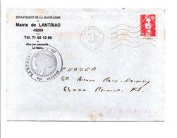 LETTRE DE MAIRIE DE LANTRIAC HAUTE LOIRE - Marcophilie (Lettres)