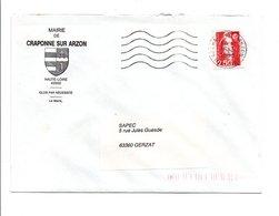 LETTRE DE MAIRIE DE CRAPONNE SUR ARZON HAUTE LOIRE - Marcophilie (Lettres)