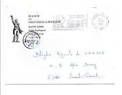 LETTRE DE MAIRIE DE CHAVANIAC-LAFAYETTE HAUTE LOIRE - Marcophilie (Lettres)