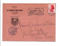 LETTRE DE MAIRIE DE SAINT-BONNET-PRES-RIOM PUY DE DOME - Marcophilie (Lettres)