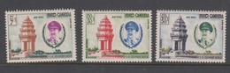 Cambodia SG 123-125 1961 Independence Monumentl.,mint Never Hinged - Cambodia