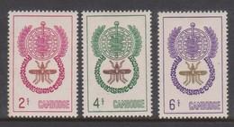 Cambodia SG 133-135 1962 Malaria Eradication  ,mint Never Hinged - Cambodja