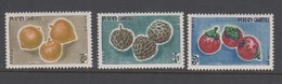 Cambodia SG 136-138 1962 Fruits 1st Issue ,mint Never Hinged - Cambodja