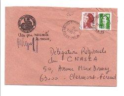LETTRE DE MAIRIE DES ANCIZES-COMPS PUY DE DOME - 1961-....