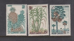 Cambodia SG 139-141 1962 Fruits 2nd Issue ,mint Never Hinged - Cambodja