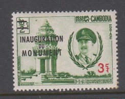 Cambodia SG 143 1962 Independence Monumentl Surcharged,mint Never Hinged - Cambodja