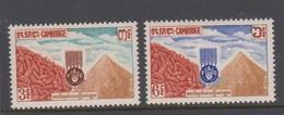 Cambodia SG 145-146 1963 Freedom Ftom Hunger ,mint Never Hinged - Cambodge