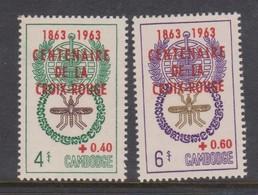 Cambodia SG 154-155 1963 Centenary Red Cross.,mint Never Hinged - Cambodja
