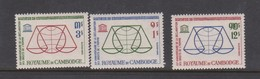 Cambodia SG 156-158 1963 15th Anniversary Declaration Human Rights ,mint Never Hinged - Cambodia