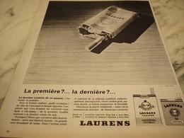 ANCIENNE PUBLICITE CIGARETTES  LAURENS 1962 - Tabac (objets Liés)