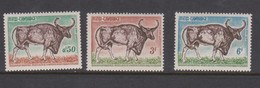 Cambodia SG 159-161 1964 Wild Animal Protection ,mint Never Hinged - Cambodia
