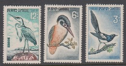 Cambodia SG 162-164 1964 Birds ,mint Never Hinged - Cambodia